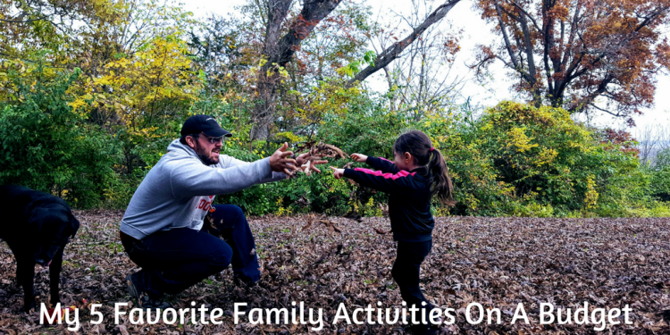Finding activities to do as a family doesn't have to break the bank.  I'm sharing 5 great ways to spend time together as a family, on a budget.