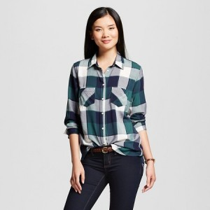 This women's plaid button-down from Target brings style to your casual fashion.