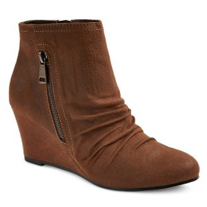 A Wedge Bootie can take joggers from casual to dressed up and pull together any wardrobe.