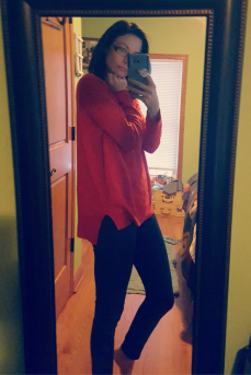 When the weather gets cold I want to snuggle up in my over-sized sweaters and get cozy. This red sweater was perfect for a snowy day.