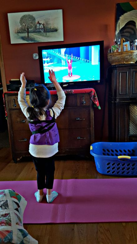 Addie loves this children's yoga video I found on YouTube. It tells the Frozen story. So great!
