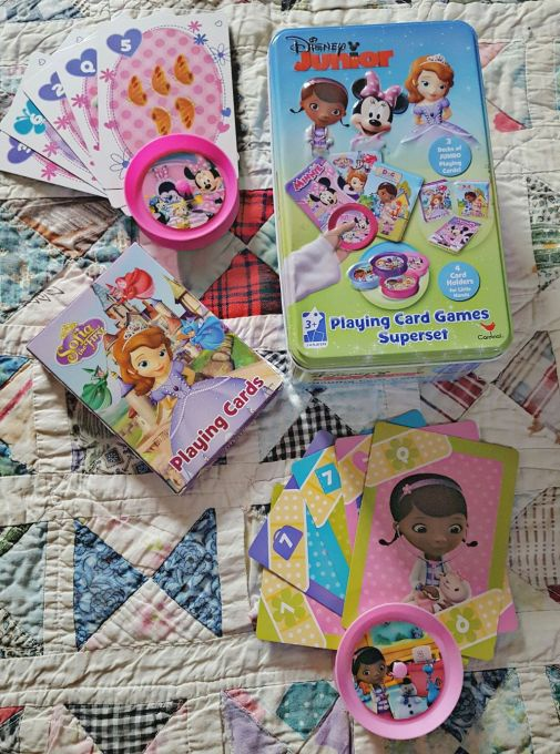 This fun Disney Junior Playing Card Games Superset is a perfect way to pass a lazy Winter Sunday Afternoon.