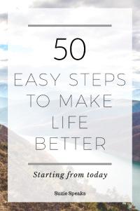 Easy steps and life hacks
