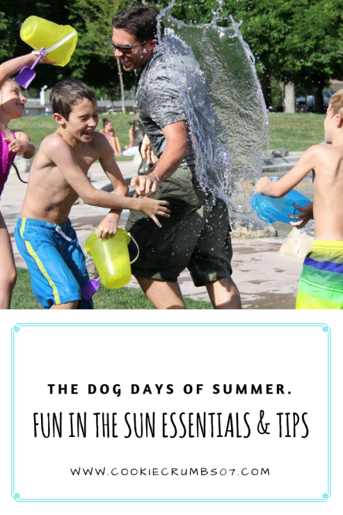 When enjoying the Dog Days of Summer it's also important that you and your family are taking the proper precautions when enjoying the sun.  In this post I'm sharing some essential products and tips.  Read Now!